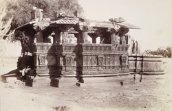 General view of old temple east of the village near the tank, Dilmal, Gujarat